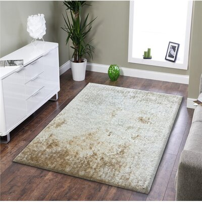 Barrigan Shag Hand-Tufted Beige Area Rug