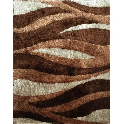 Lola Hand-Tufted Brown Area Rug