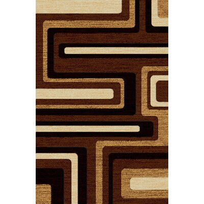 LifeStyle Brown Indoor/Outdoor Area Rug Rug Size: 5 x 8