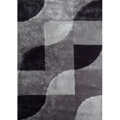 Lola Hand-Tufted Gray/Black Area Rug