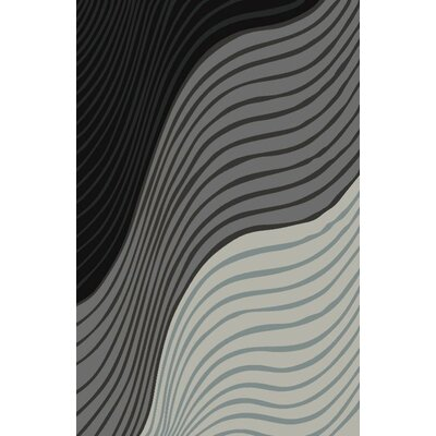 Fusion Silver/Gray Indoor/Outdoor Area Rug Rug Size: 5 x 8