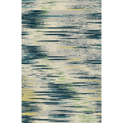 Fusion Gray/Silver Indoor/Outdoor Area Rug Rug Size: 5 x 8