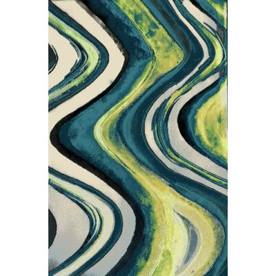 Fusion Blue Indoor/Outdoor Area Rug Rug Size: 8 x 11