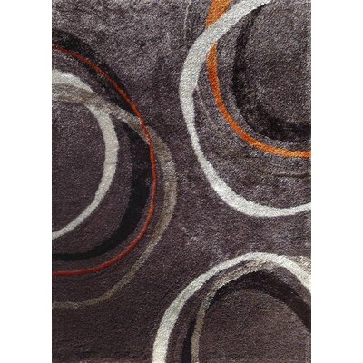 Berrien Hand-Knotted Mocha/Orange Area Rug