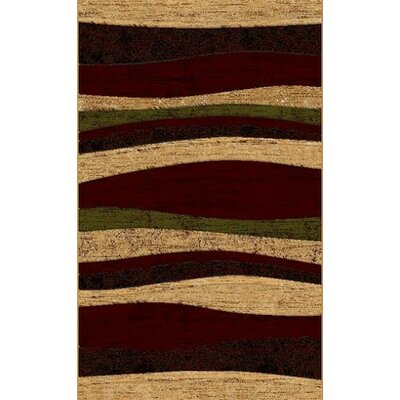 LifeStyle Burgandy Indoor/Outdoor Area Rug Rug Size: 5 x 8