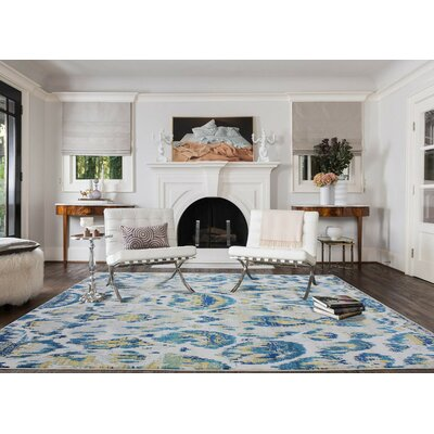 Fusion Silver/Cotton Indoor/Outdoor Area Rug Rug Size: 5 x 8