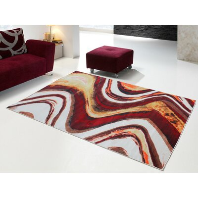 Fusion Red Indoor/Outdoor Area Rug Rug Size: 5 x 8