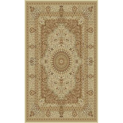 Tabriz Cream Indoor/Outdoor Area Rug Rug Size: 5 x 8