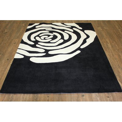 Transition Hand-Tufted Black Area Rug