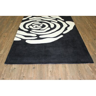 Transition Black/White Area Rug Rug Size: 5 x 7
