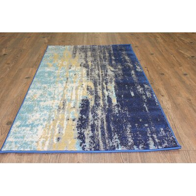 Fusion Yellow/Blue Indoor/Outdoor Area Rug Rug Size: 2 x 3