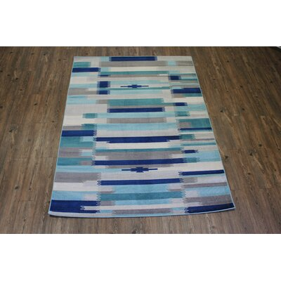 Kilim Blue / Teal Area Rug Rug Size: Rectangle 28 x 47