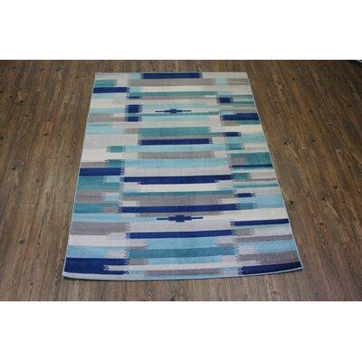 Kilim Blue / Teal Area Rug Rug Size: Rectangle 53 x 75