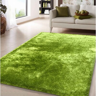 Pattison Hand-Tufted Green Area Rug