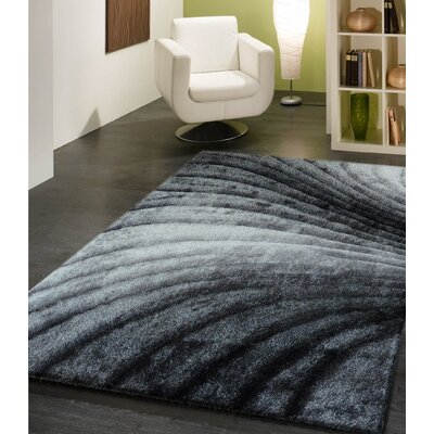 Pavonia Hand-Tufted Gray Area Rug Rug Size: Rectangle 5 x 7