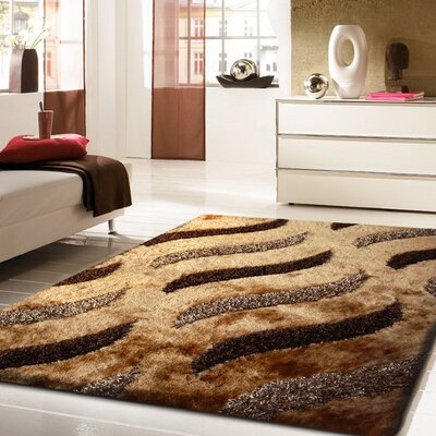 Ridenhour Hand-Tufted Brown Area Rug