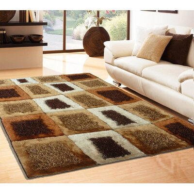 Rosati Hand Tufted Brown Area Rug Rug Size: Rectangle 4 x 54