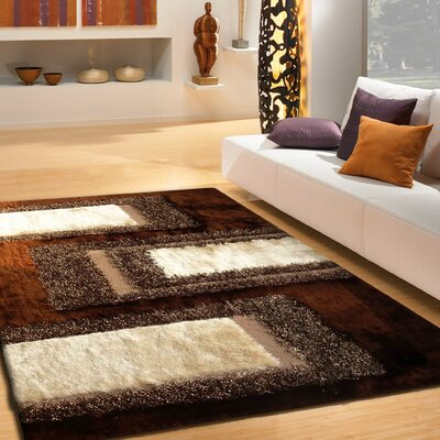 Sebasco Shag Hand-Tufted Brown Indoor Area Rug