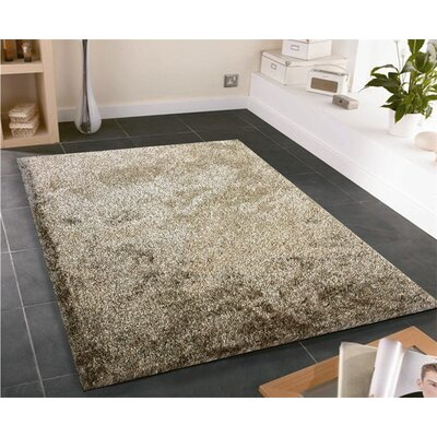 Amore Hand-Tufted Brown/White Area Rug