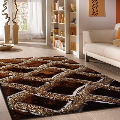 Roselli Hand Tufted Brown Area Rug Rug Size: Rectangle 5 x 7
