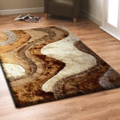Sephora Shag Hand-Tufted Brown Indoor Area Rug