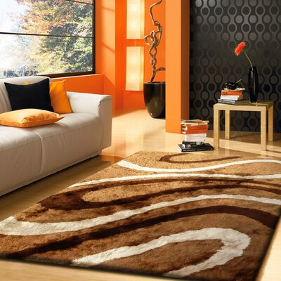 Notre Dame Hand Tufted Brown Area Rug Rug Size: Rectangle 5 x 7