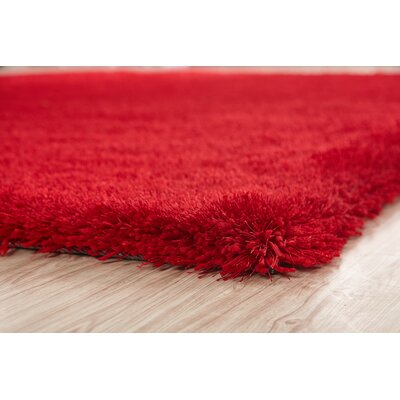 Housman Hand-Tufted Red Area Rug
