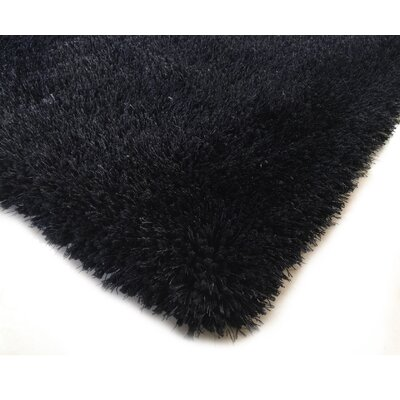 Hand-Tufted Black Area Rug