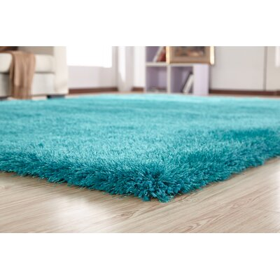 Bathford Hand Tufted Turquoise Area Rug