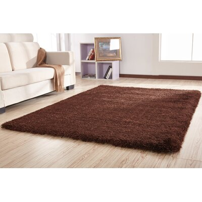 Schumacher Shag Hand-Tufted Brown Area Rug