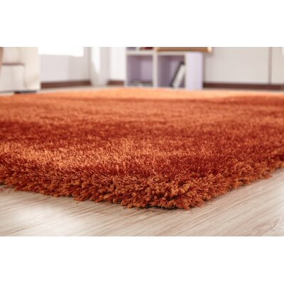 Arriaga Hand Tufted Rust Orange Area Rug