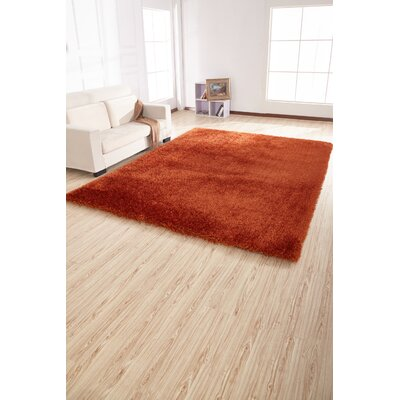 Housman Hand-Tufted Orange Area Rug