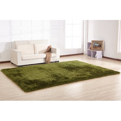 Hand-Tufted Huter Green Area Rug