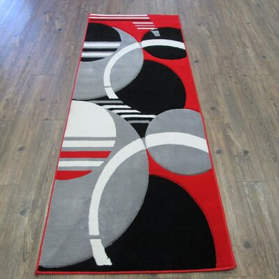 Geo Red/Gray Area Rug