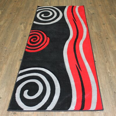 Geo Red/Black Area Rug