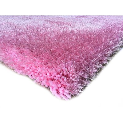 Hand-Tufted Pink Area Rug