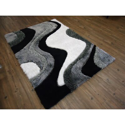 Hand-Tufted Black/Gray Area Rug