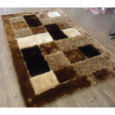 Palu Shaggy Hand-Tufted Brown Area Rug