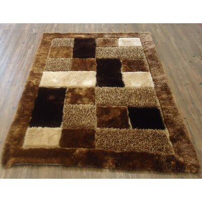 Yarbrough Hand-Tufted Brown Area Rug Rug Size: Rectangle 5' x 7'