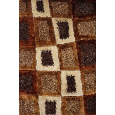 Hand-Tufted Brown Hand Rug