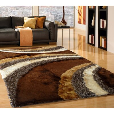 Rosato Hand Tufted Brown Area Rug Rug Size: Rectangle 5 x 7