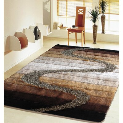 San Michele Hand Tufted Brown Area Rug Rug Size: Rectangle 76 x 103