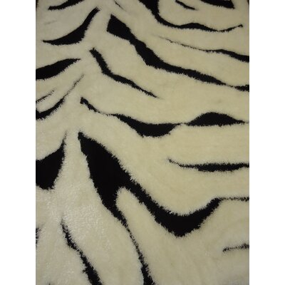 Callista Zebra Design Hand-Tufted Beige/Black Area Rug Rug Size: Rectangle 76 x 103