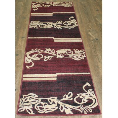 Lifestyle Burgundy Area Rug