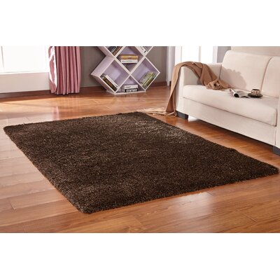 Vinci Hand-Tufted Brown Area Rug Rug Size: Rectangle 76 x 103