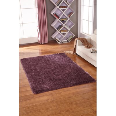 Lurex Tone Purple Hand Tufted Area Rug