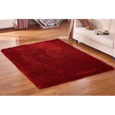 Lurex Tone Red Hand Tufted Area Rug