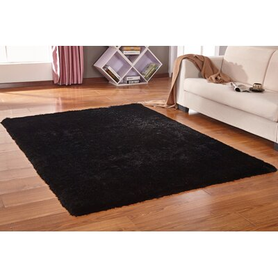Lurex Black Hand Tufted Area Rug