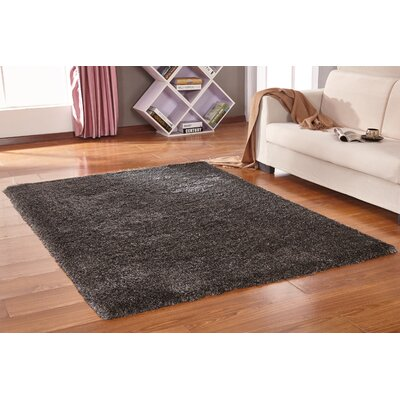 Vinci Hand-Tufted Gray Area Rug Rug Size: Rectangle 76 x 103