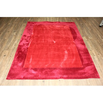 Transition Hand-Tufted Red Area Rug